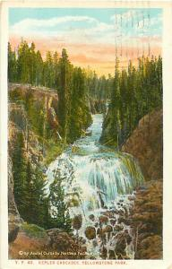 Kepler Cascades Yellowstone Park 1937 White Border