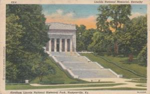 Lincoln Memorial at Abraham Lincoln National Park Hodgenville KY Kentucky Linen