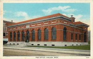 Post Office in Chelsea Massachusetts MA White Border