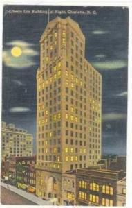 Liberty Life Building at Night, Charlotte, North Carolina, PU-1945