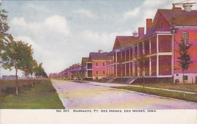Iowa Des Moines Barracks Fort Des Moines 1909