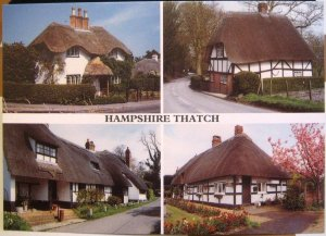 England Hampshire Thatch Swan Green Ashley Wherwell Ibsley - unposted