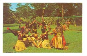 Fijian Spear dancers , Fiji, 40-60s