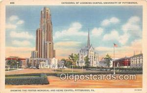 Churches Vintage Postcard Pittsburgh, PA, USA Vintage Postcard Cathedral of L...