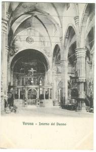 Italy, Verona, Interno del Duomo, early 1900s unused Postcard