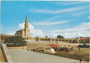 FATIMA, Portugal, Basilica, evergreen oak, Apparitions chapel, 1970 used card