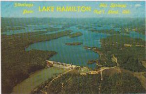Aerial View of Lake Hamilton & Carpenter Dam, Hot Springs National Park, Arka...