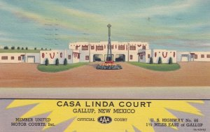Casa Linda Court , GALLUP , New Mexico , 1939 ; RT 66 / Route 66