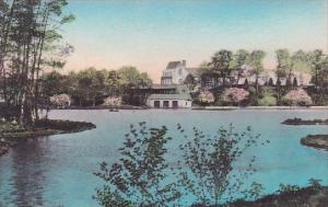 Lake And Club House Valeria Home Oscawana New York Handcolored Albertype