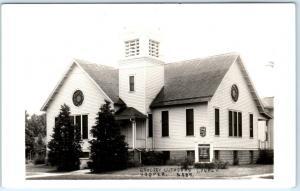 RPPC  HOOPER, Nebraska  NE     GRACE LUTHERAN CHURCH  ca 1940s  Postcard