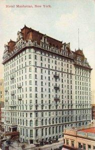 Hotel Manhattan, New York City, N.Y., Early Postcard, Unused