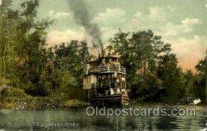 Scean on the Ocklawaha River Ferry Boat 1906 light corner wear, paint chips o...