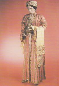 Turkey 1800s Victorian Fashion Ladies Waxwork London Museum Postcard