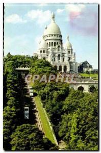 Paris Modern Postcard Basilica of the Sacred Heart of Montmartre