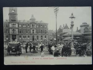 South Africa JOHANNESBURG A Corner of Market Square c1902 UB Postcard by Epstein
