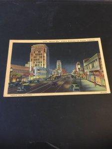 Vintage  Postcard - Miracle Mile- Wilshire Boulevard Los Angeles CA