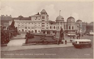 Alhambra & New Victoria Theatres Bradford Real Photo Postcard