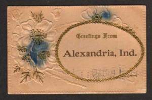IN Greetings from ALEXANDRIA INDIANA Postcard PC