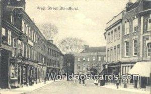 West Street Blandford UK, England, Great Britain 1909