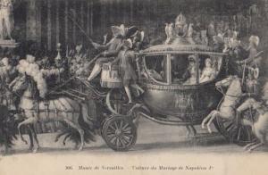 The Car Voiture De Marriage Napoleon 1st Versailles Museum Antique Postcard