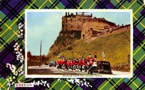 Vintage Postcard Edinburgh Castle from Johnston Terrace, Gordon Clan Tartan 11X