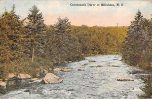 Hillsboro New Hampshire Contoocook River Waterfront Antique Postcard K97067