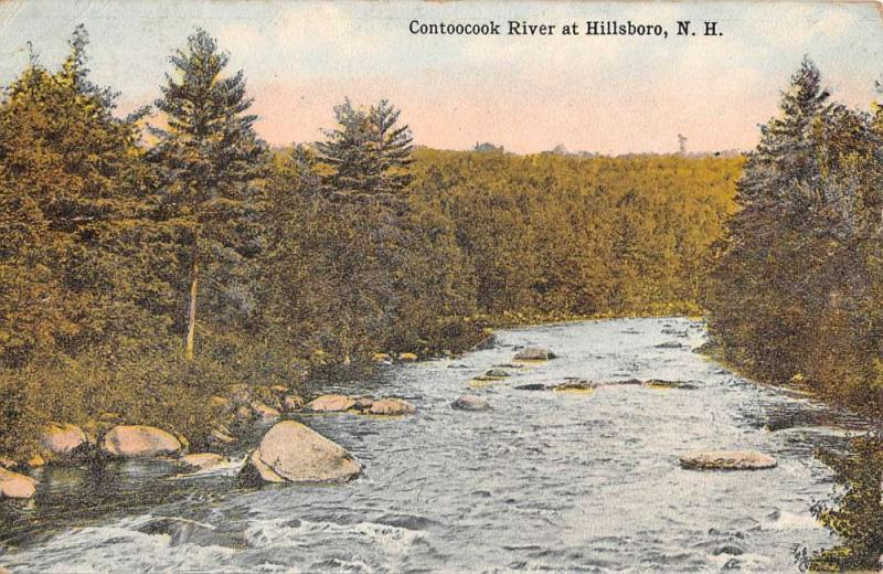 Hillsboro New Hampshire Contoocook River Waterfront Antique Postcard K97067