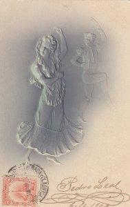 Embossed Dancers, PU-1904; TUCK Series 2668