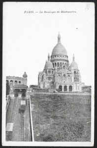 The Cathedral of Montmartre Paris FRANCE Unused c1910s