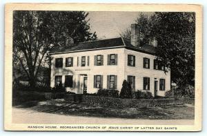 Postcard IL Nauvoo The Mansion House Church of Latter Day Saints A17