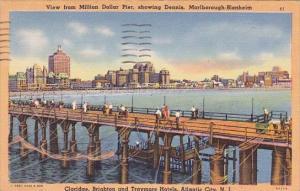New Jersey Atlantic City View From Million Dollar Pier Showing Dennis Marlbor...
