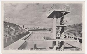 Germany; Berlin Sportsfeld PPC Unposted Olympic Swimming Pool, Pre WW2