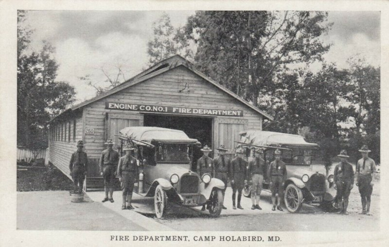 CAMP HOLABIRD , Maryland, 1910s ; Fire Department