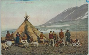 92375 - GREENLAND - VINTAGE  POSTCARD - An eskimo family