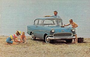 Roanoke Virginia Blue Ridge Motors Opel Rekord Sedan Vintage Postcard JA4741721