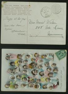 Babies postcard pmkd Granby Quebec Duplex 1905