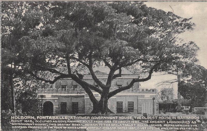 E46/ Barbados Foreign Postcard Caribbean c1910 Holborn Fontabelle 9