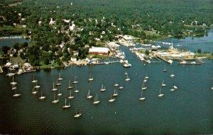 Connecticut Essex Aerial View Of Essex Harbor