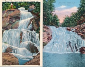 (4 cards) Waterfalls Great Smoky Mountains National Park TN Tennessee (or N.C.)