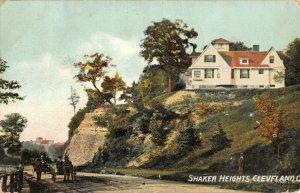 Cleveland Ohio~Horse Buggies Drive Thru Shaker Heights~House on Bluff~1908