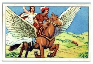 Prince Finds Golden Bird is Lost Sister, Echte Wagner German Trade Card *VT31T