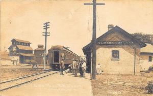 Clinton Junction WI C.M & St Paul Railroad Station Train Depot RPPC Postcard