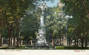 NY - Owego. Courthouse Square