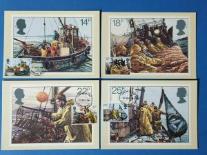 PHQ Stamp Postcard Set of 4 First Day Issue No.55 Fishing Industry 1981 CJ4
