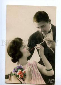 187980 FASHION Lovers SMOKING Mouthpiece Vintage PHOTO PC