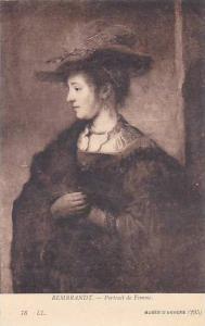 Rembrandt Portrait de Femme Musee D'Anvers