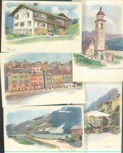 pc751 postcard Switzerland Geneva Alps FIVE UDB all MOBSC