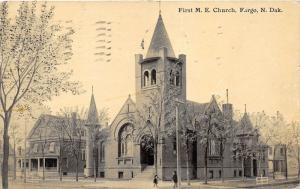 Fargo North Dakota~First Methodist Episcopal Church~Children by Street~House~'12