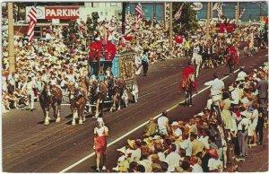 70s Postcard, Schitz Circus Parade, Baraboo, Wis.