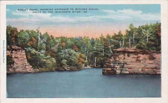 Wisconsin Sunset Point Showing Entrance To Witches Gulch Dells Of The Wiscons...